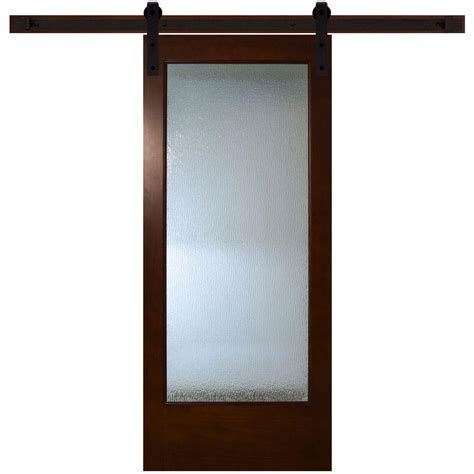 barn door home depot steves sons 36 in x 84 in modern lite glass