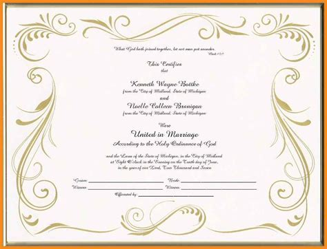 Marriage Report Card Template by 7 Blank Marriage Certificate Template Emmalbell