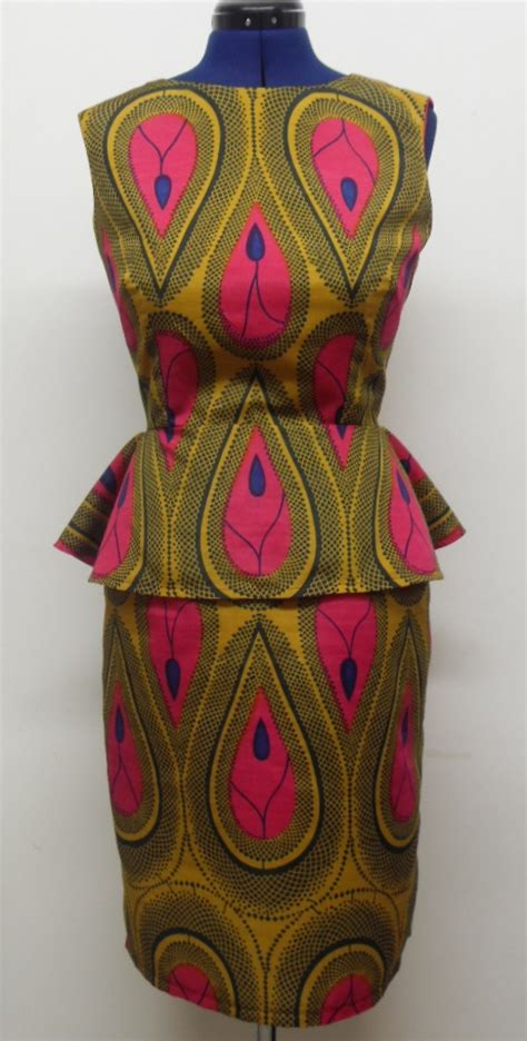 african pattern clothes african print tear drop peplum dress sewing projects