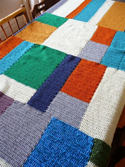 Crochet Patchwork - thrift nest sew patchwork crochet blanket