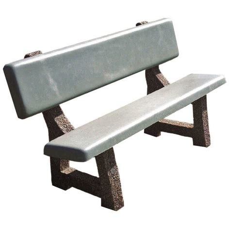 concrete bench legs concrete park bench with aggregate legs 5 ft 6 ft or 7
