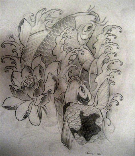 tattoo koi sketchbook koi tattoo sketch by terokiiskinen on deviantart