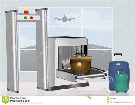 security scanner airport security scanner stock illustration image of