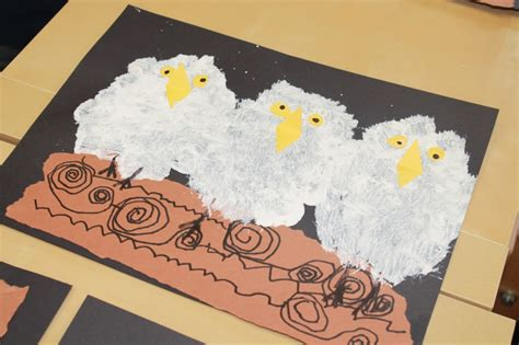 Paint Snowy Owls Tippytoe Crafts Preschool Books - creative tots preschool