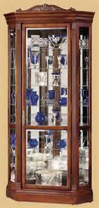 Curio Cabinets Cherry Wood Howard Miller Embassy Ii Cherry Wood Corner Collectors