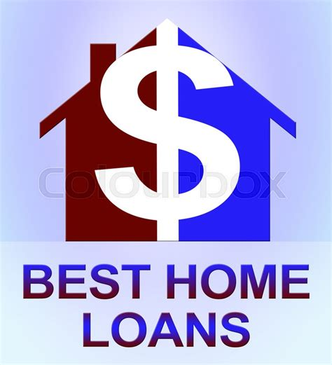 best home loans dollar icon means top mortgages 3d