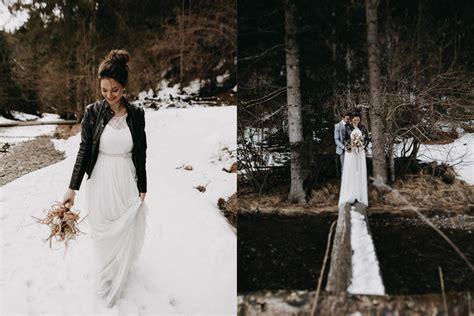 Brautkleider Winter by Brautkleid Winter Berge Und Romantik Ein Verliebtes Paar