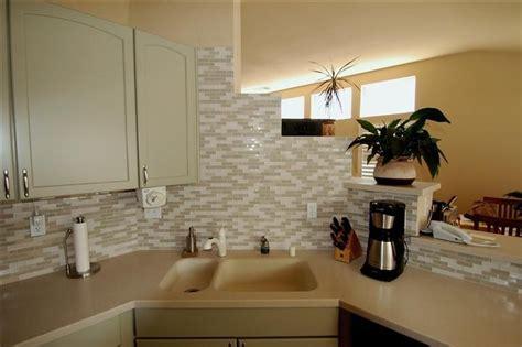 small glass tile backsplash house