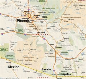 Southern Arizona Map by Map Of Southern Arizona