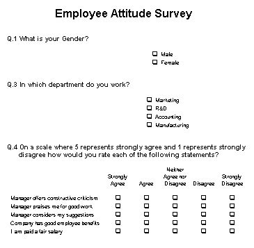 attitude survey template employee surveys are they any the empty