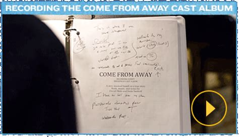 Come In Now Go Away by Come From Away A New Musical Official Site
