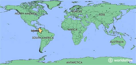 colombia map of the world where is colombia where is colombia located in the