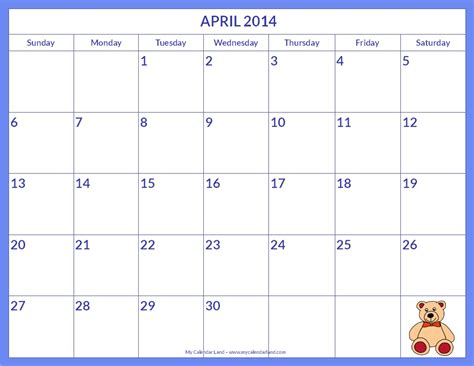 2014 monthly calendar templates printable monthly calendar templates free printable 2014