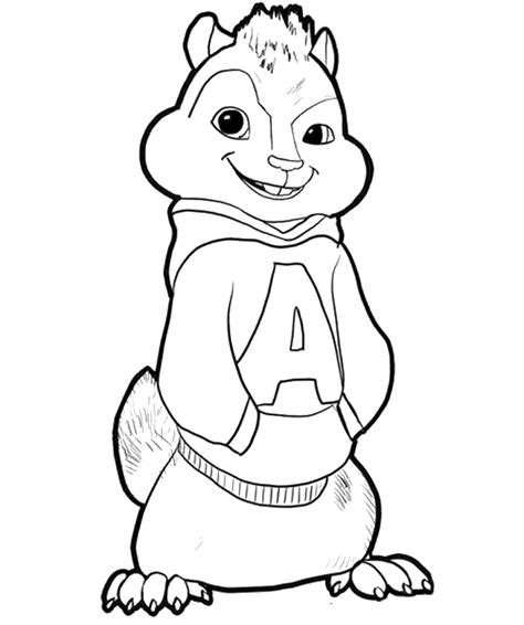 alvin and the chipmunks coloring pages free az coloring