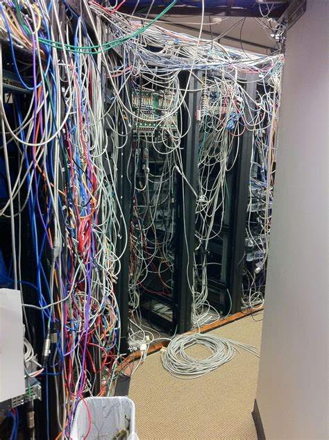 Messy Wires by Real World Server Room Nightmares Page 3 Techrepublic