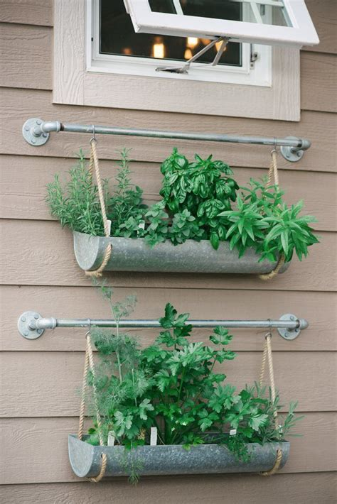 diy hanging herb garden 25 best ideas about gutter garden on pinterest