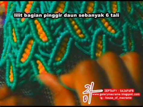 tutorial tali kur motif daun tutorial tas tali kur membuat motif daun variasi beda