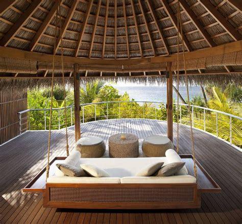 W Retreat Maldives Decking Porch Swing Interior Design
