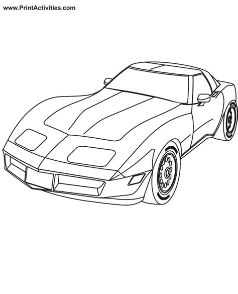 Sports Car Coloring Pages To Print 13 Image Colorings Net Sports Car Coloring Page
