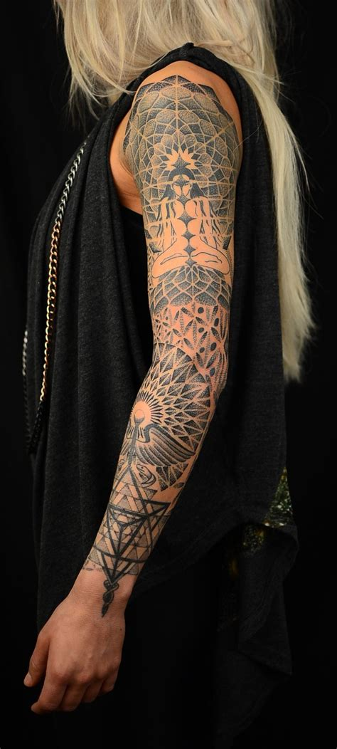 geometric tattoo sleeve best 25 geometric sleeve ideas on