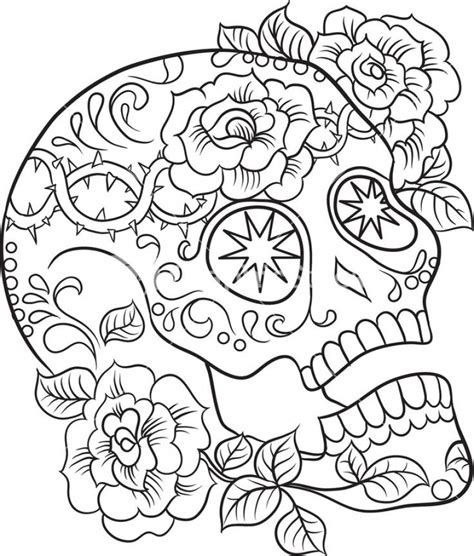 Get This Sugar Skull Coloring Pages Free For Adults 24631 Sugar Skull Coloring Pages For Adults Free