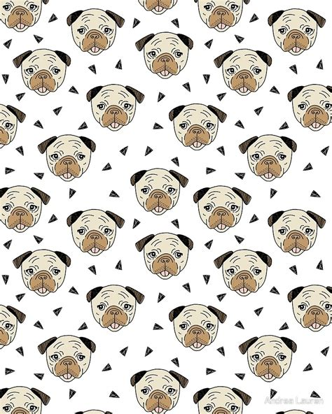 pug white background quot pugs white background by andrea quot by andrea redbubble