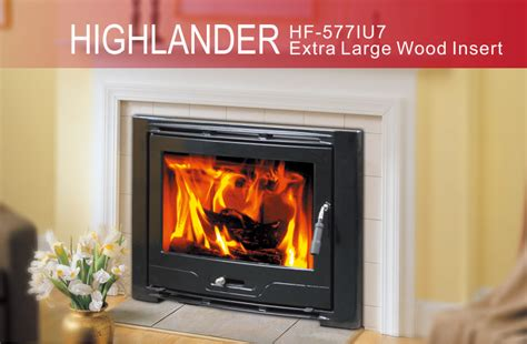 hiflame large wood stove fireplace insert hf577iu7