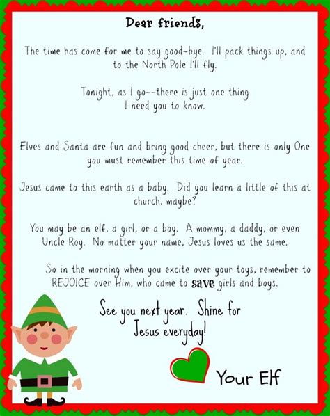 printable elf letterhead best 25 elf goodbye letter ideas on pinterest goodbye