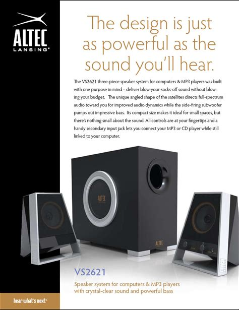 Speaker Altec Lansing Vs2621 Resmi loa altec lansing vs2621 loa
