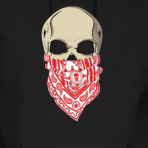 bandana design hoodie red skull bandana tattoo hoody hoodie spreadshirt