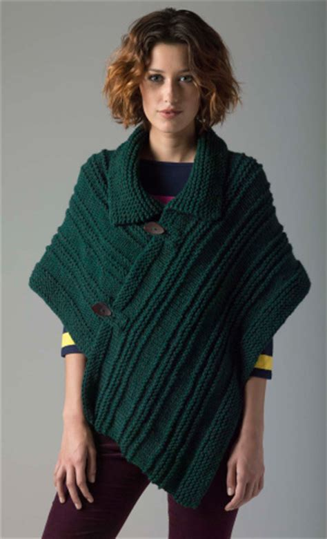 knitting pattern for poncho level 1 knit poncho free pattern from lion brand crochet