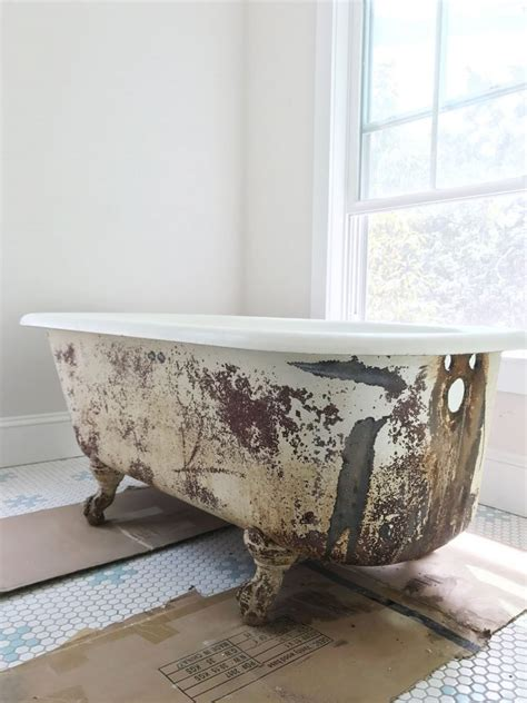 restoring old bathtubs how to refinish an old clawfoot tub young house love