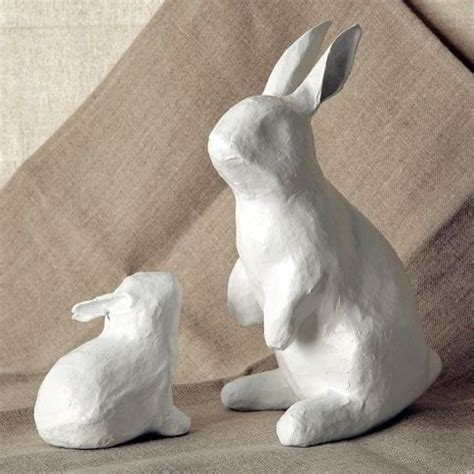 paper mache ideas for home decor papier m 226 ch 233 bunnies contemporary holiday decorations