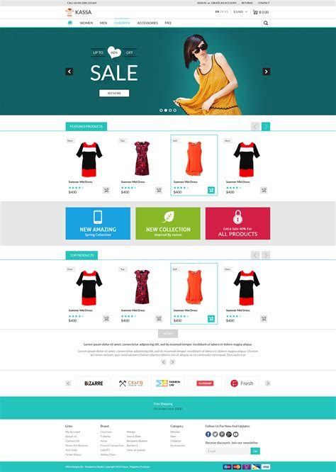 Kassa E Commerce Psd Tempalte Website Templates On Creative Market Ecommerce Grocery Website Templates