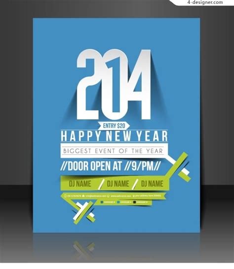creative poster design vector 4 designer 2014 new year s creative poster design vector