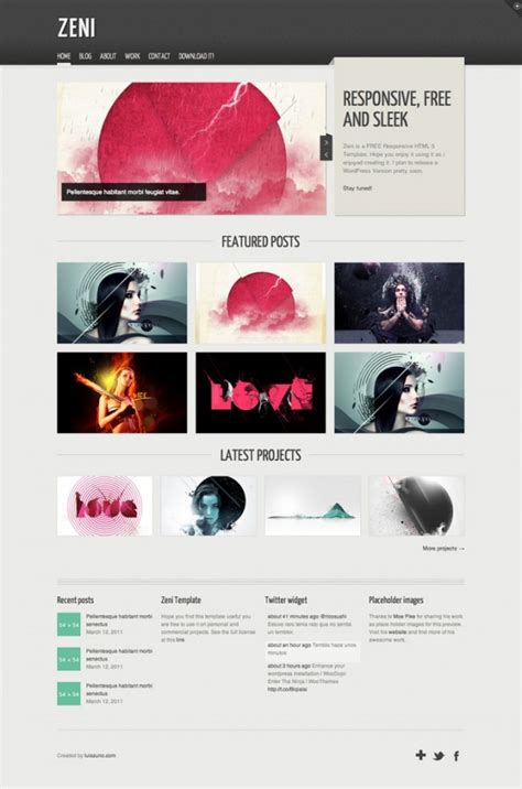 design free resources zeni html luis zuno free web resources