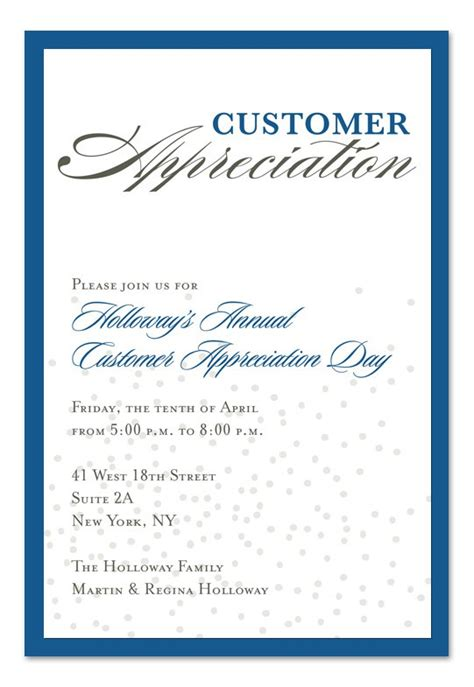 Sle Appreciation Luncheon Invitation Customer Appreciation Event Invitation Template