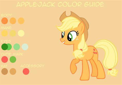 jacks of color applejack color guide by leafiatree on deviantart