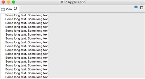null layout eclipse eclipse no scrollbars in scrolledcomposite in rcp rap