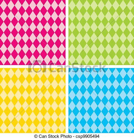 drawing harlequin pattern eps vector of seamless harlequin patterns bright