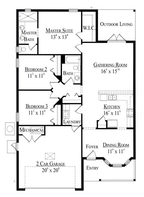 1500 Sq Ft House Floor Plans Gallery Small House Plans 1500 Sq Ft