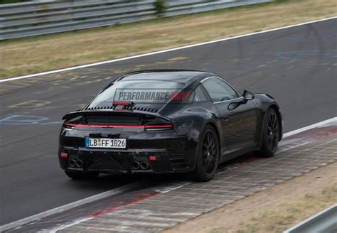 new porsche 2019 2019 porsche 911 992 spotted gets wider rear wing quad