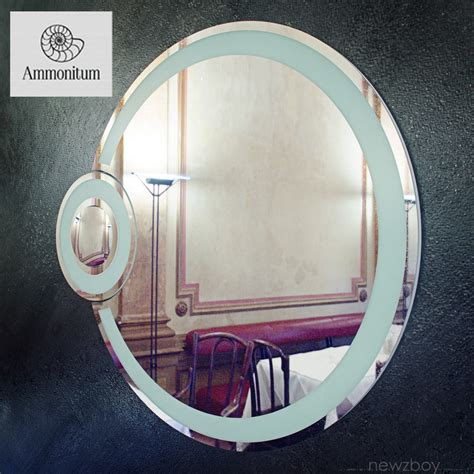 round bathroom mirror with lights 3d model round bathroom mirror with light eclipse vr ar