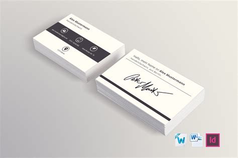 Design Vorlagen Visitenkarten 1 Kostenlose Visitenkartenvorlage