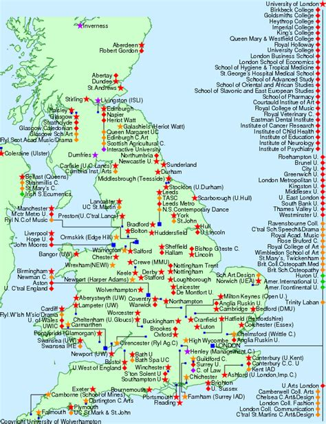 List Of Accredited Mba Universities In Uk by Uk Map 187 Www Chantryedu Co Uk
