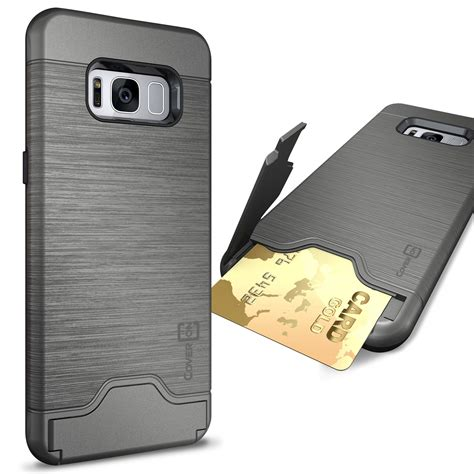 Acc Blueray Samsung Galaxy S8 Plus Slim Cover Hardca coveron for samsung galaxy s8 plus slim kickstand credit card slot cover