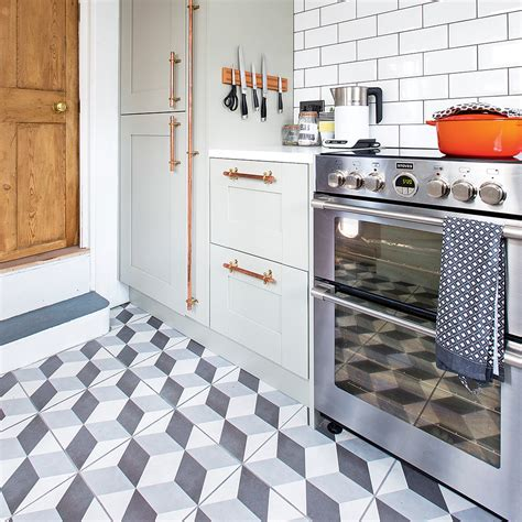 tiled kitchen floors kitchen flooring ideas for a floor that s wearing practical and stylish