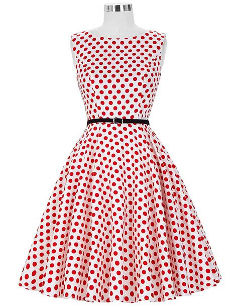 Dress 2 In 1 Dot White the classic and white polka dot dress 1950sglam