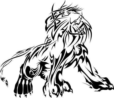 tribal lion tattoo design tribal by johnniihansen on deviantart