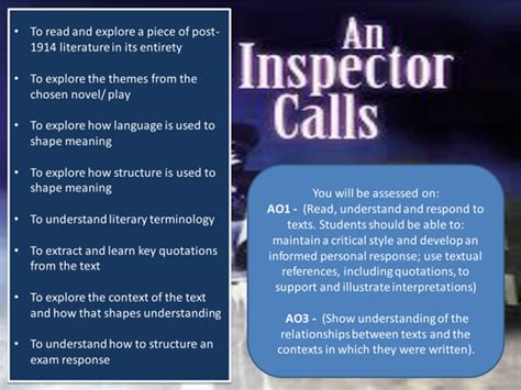 themes in an inspector calls powerpoint an inspector calls themes and context by jesspon